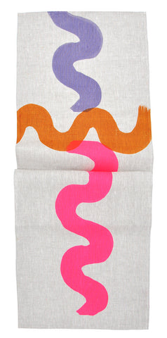 Neon Squiggle Table Runner