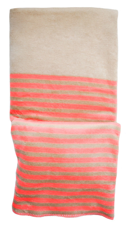 Neon Stripe Fleece Blanket - LEIF