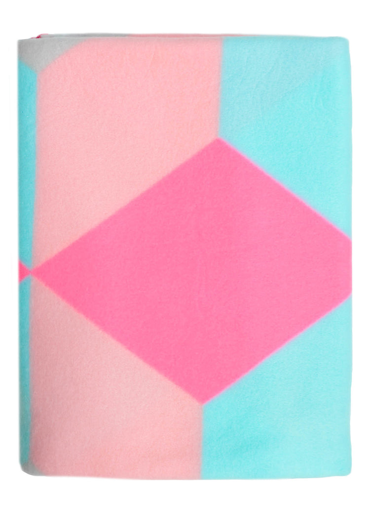 Neon Triangles Fleece Blanket - LEIF