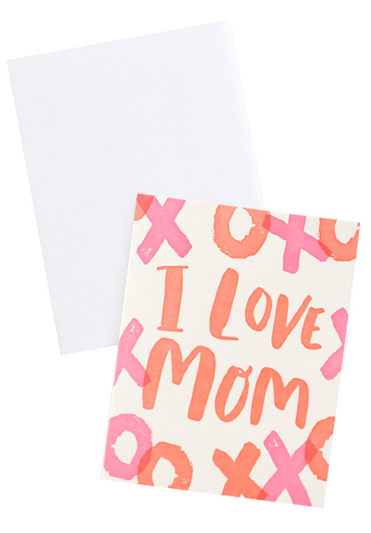 Neon XO Mother's Day Card - LEIF