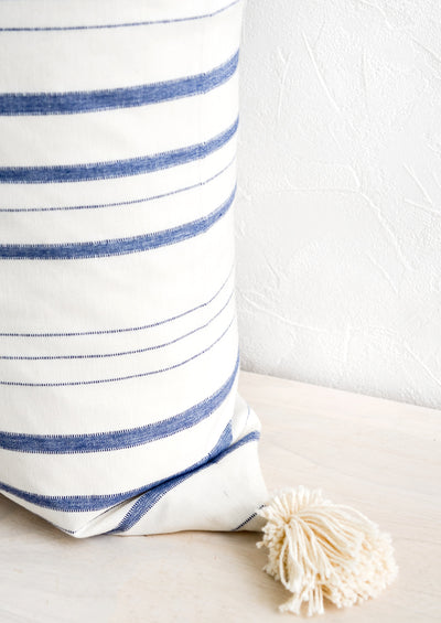 Niantic Striped Cotton Pillow hover