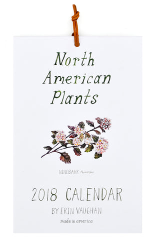 North American Plants 2018 Calendar