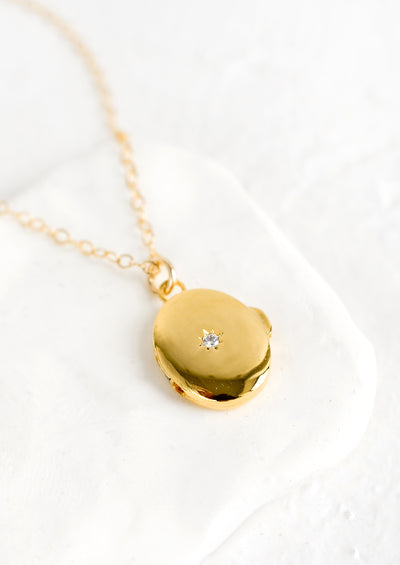 North Star Locket Necklace