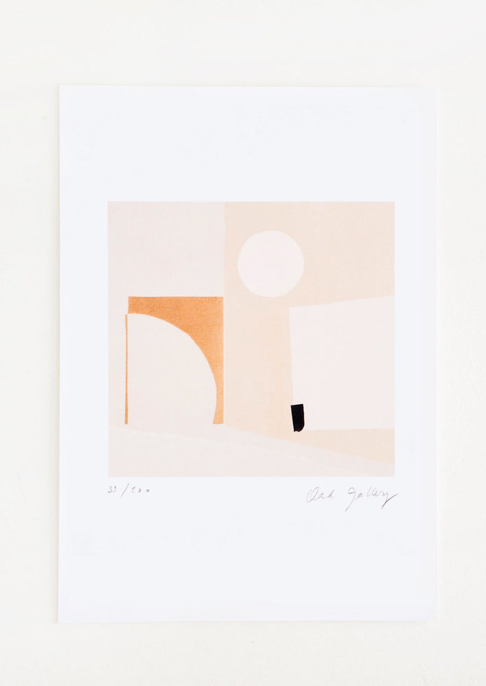 1: Fine art print featuring a mix of geometric shapes in neutral hues
