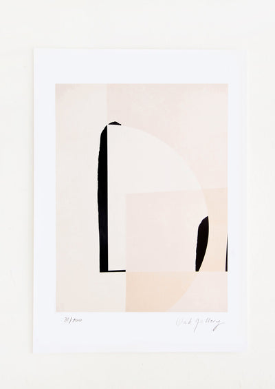 Fine art print featuring abstract scene in neutral hues