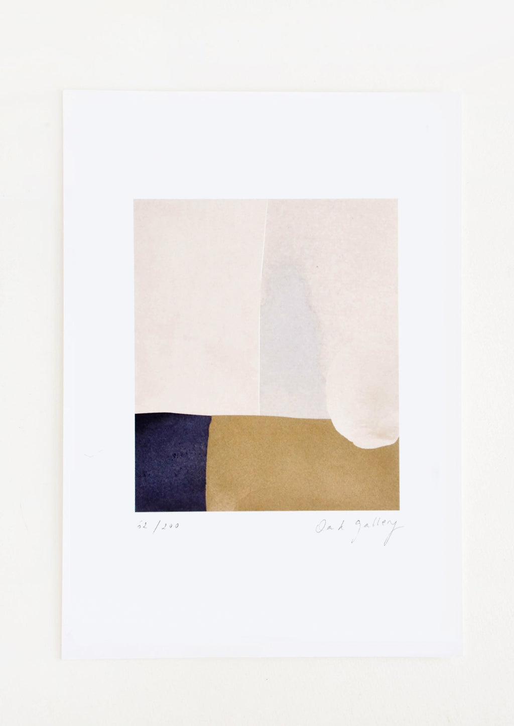 1: Abstract art print featuring composition in neutral hues