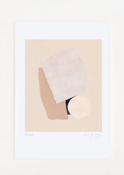 A fine art print featuring an abstract composition in neutral tones.