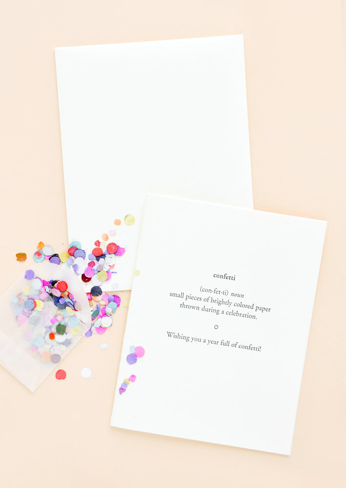 Confetti Defined Birthday Card
