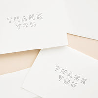 1: Outlined Thank You Card Set in  - LEIF