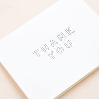 2: Outlined Thank You Card Set in  - LEIF