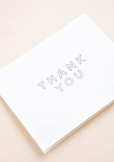 Outlined Thank You Card Set hover