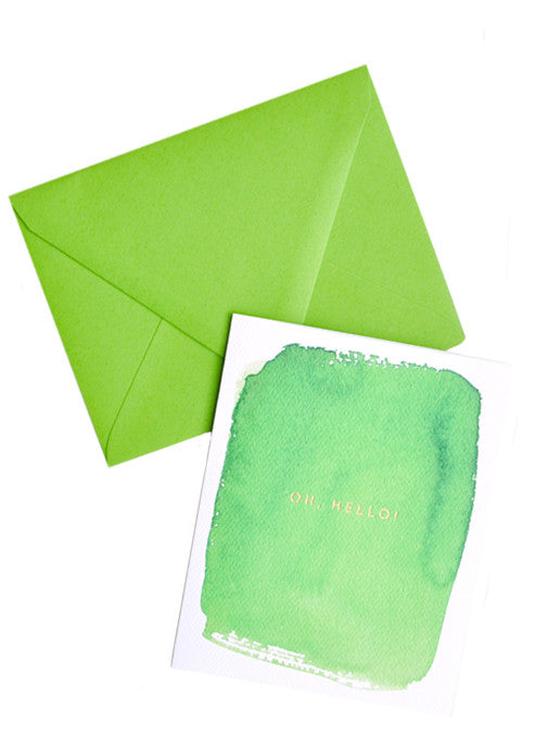 Oh, Hello! Watercolor Card Set - LEIF