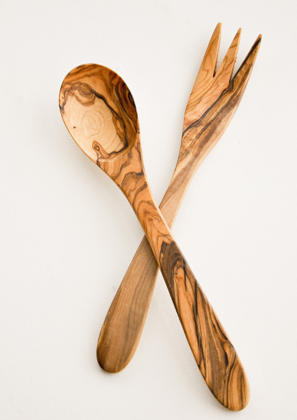 1: Olivewood Salad Serving Set in  - LEIF