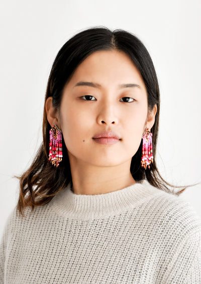 Maharaja Beaded Earrings hover
