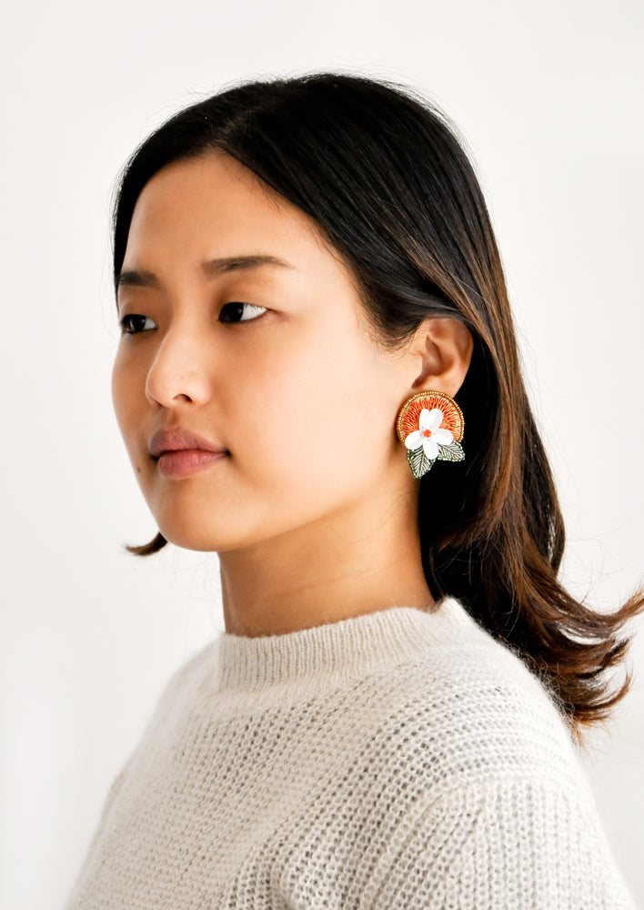 2: Orange Blossom Earrings in  - LEIF