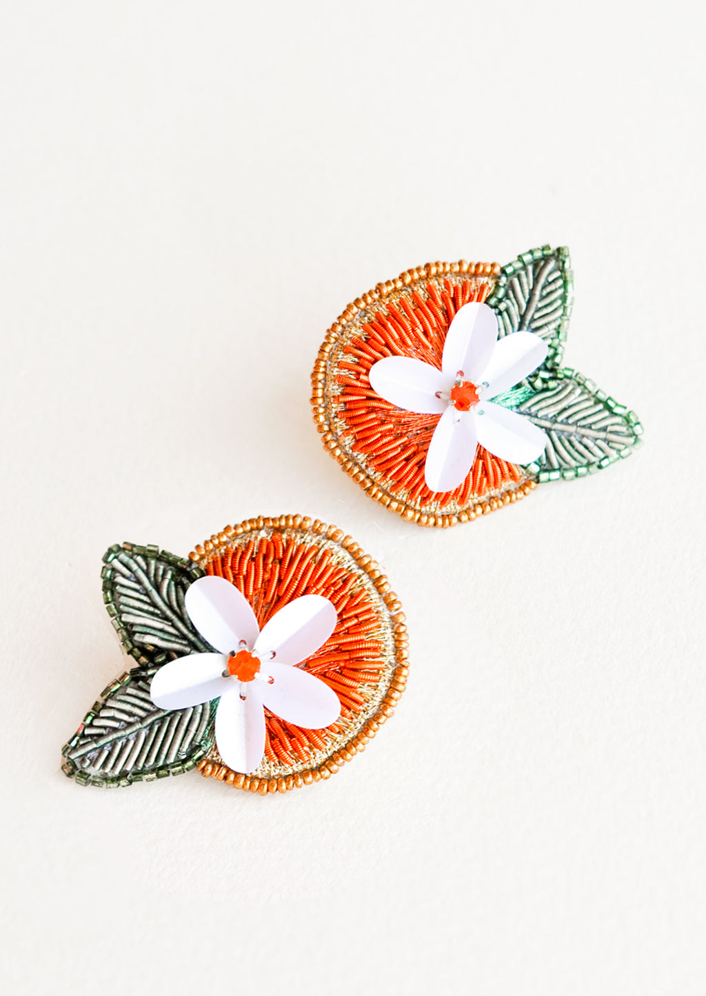 1: Orange Blossom Earrings in  - LEIF