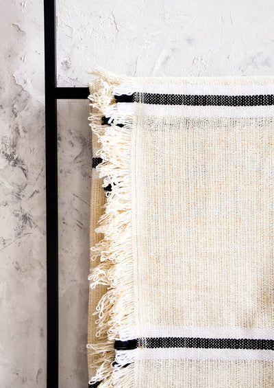 Olympia Raw Cotton Throw hover