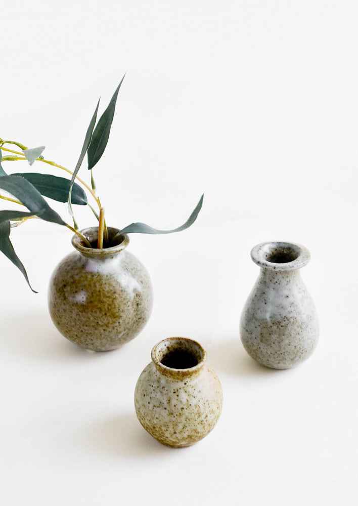 1: Onsen Speckled Bud Vase in  - LEIF
