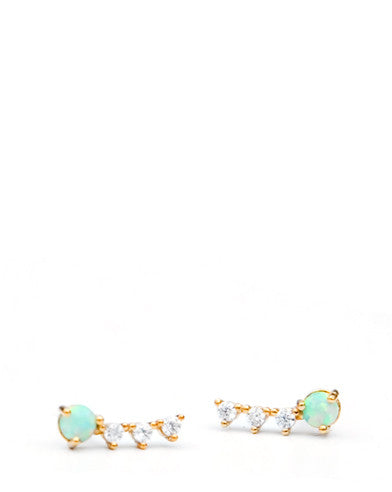 Opal Shimmer Stud Earrings