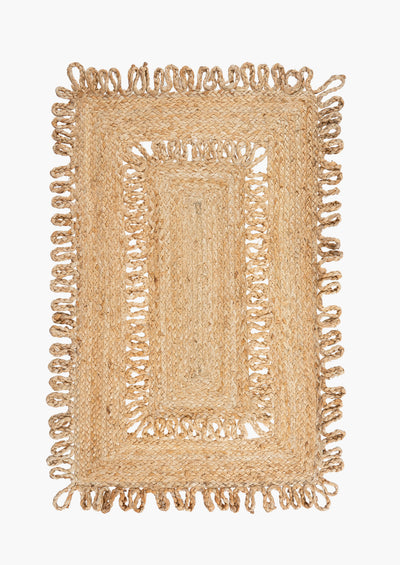 Open Weave Braided Jute Rug