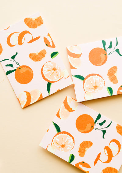 Orange Peel Blank Card Set