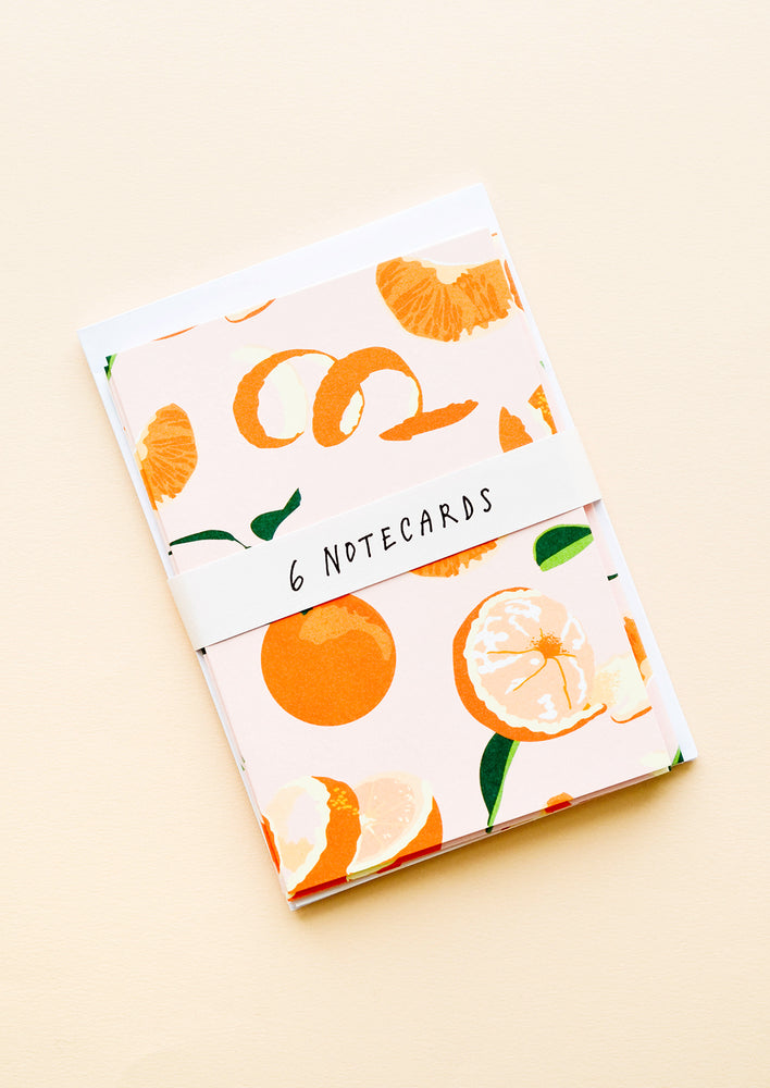 2: Packaged set of citrus print notecards