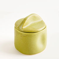 Avocado: Organic Ceramic Lidded Jar