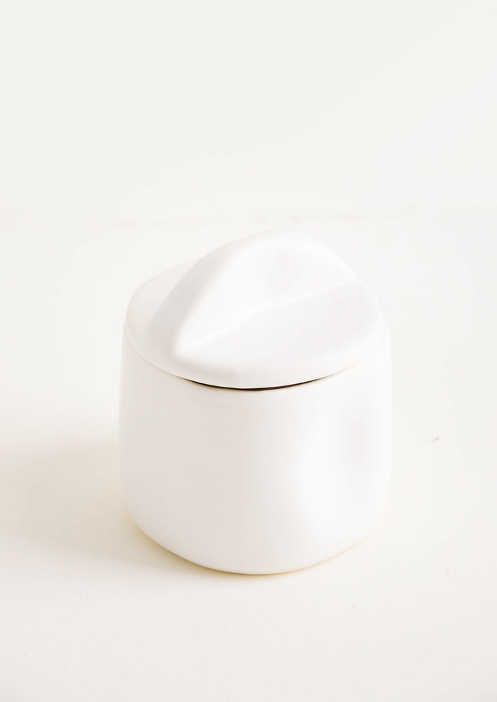 Snow: Organic Ceramic Lidded Jar