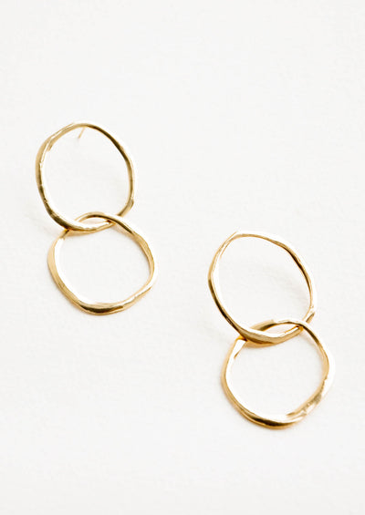 Organic Circle Earrings in  - LEIF