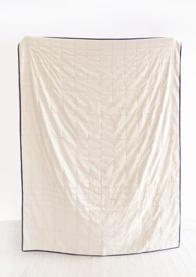 Organic Cotton Grid Stitch Quilt hover