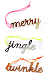 Holiday Script Ornament Tags - LEIF