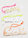 Holiday Script Ornament Tags