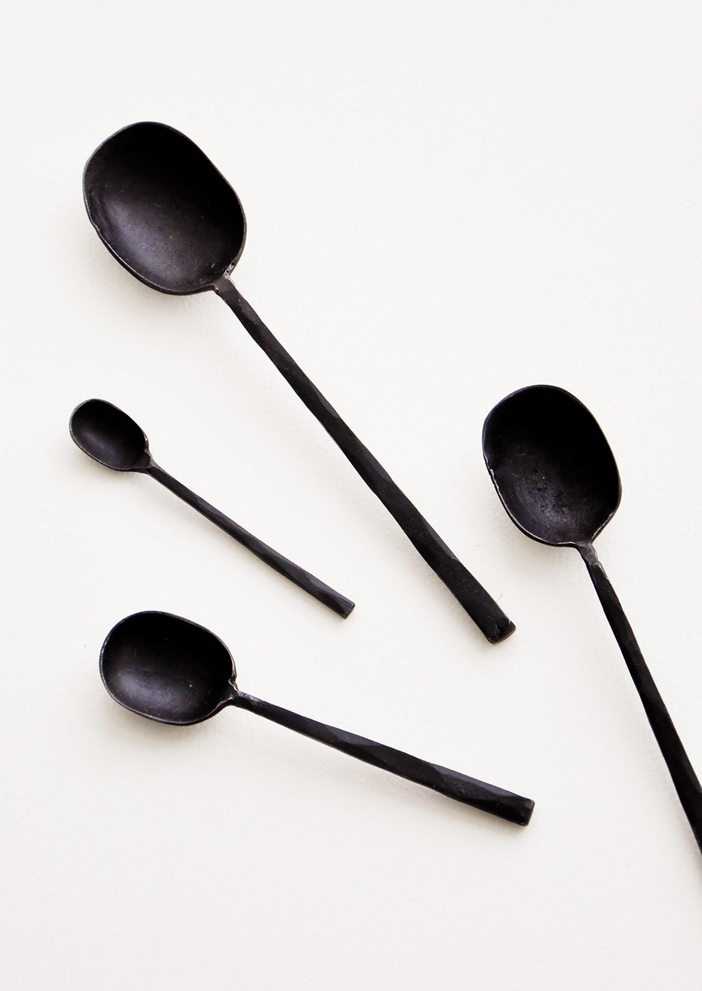 Black / Extra Small: Modern Black Metal Spoons in Various Sizes - LEIF