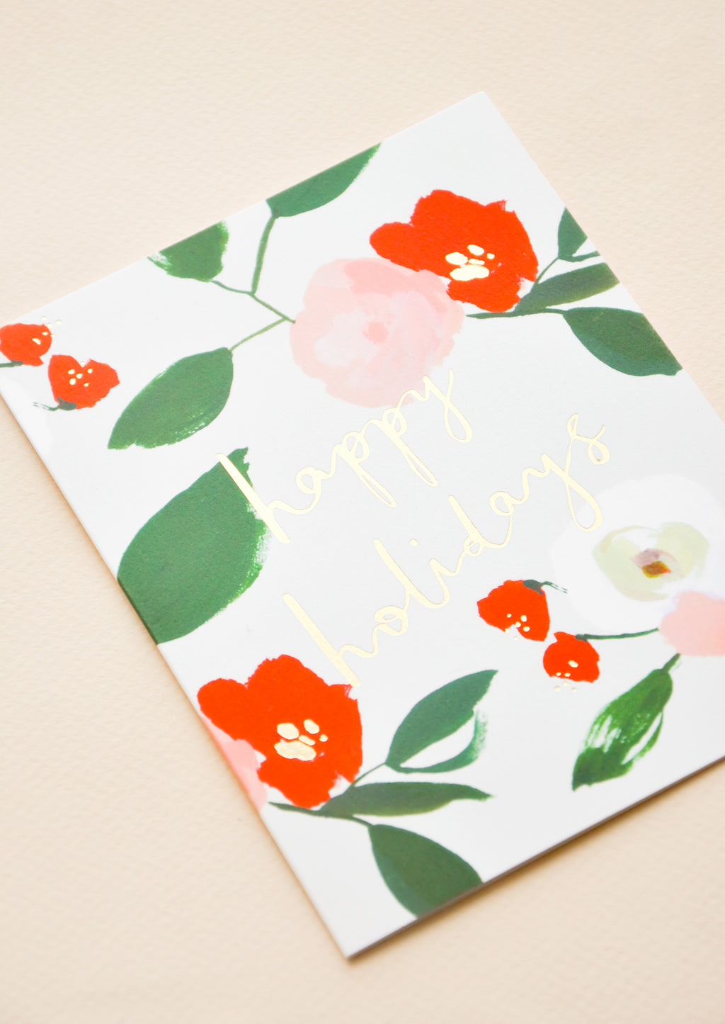 2: Floral Happy Holidays Card Set in  - LEIF