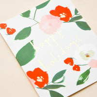 Floral Happy Holidays Card Set