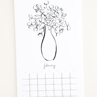 2: Floral Line Drawings 2019 Calendar in  - LEIF