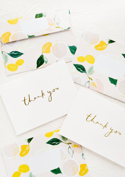 Patterned Envelope Thank You Card Set hover