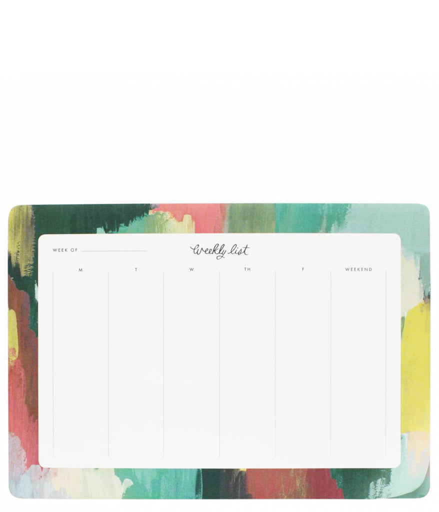 Paint Strokes Weekly Desk Planner - LEIF