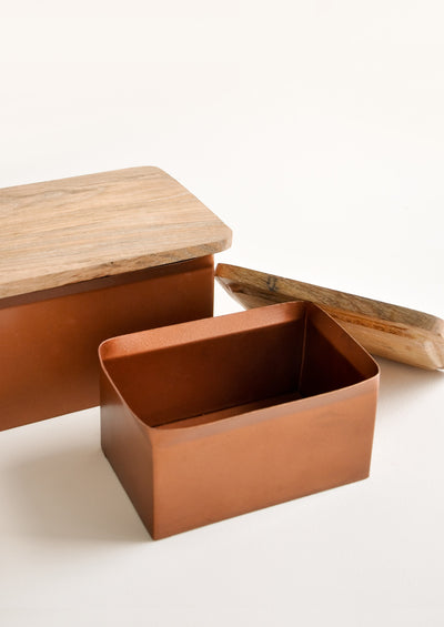 Enameled Copper Storage Box