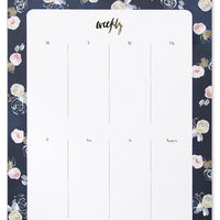 Midnight Floral: Painted Pattern Agenda Pad in Midnight Floral - LEIF