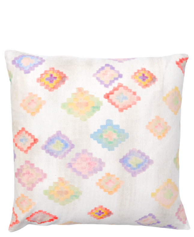 Painted Diamond Pillow Cover - LEIF