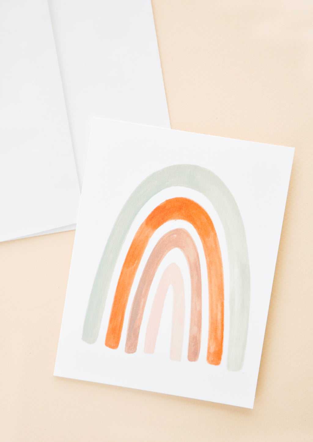 Painted Rainbow Blank Card