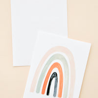 Peach: Painted Rainbow Blank Card in Peach - LEIF