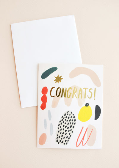 Painted Shapes Congrats Card in  - LEIF