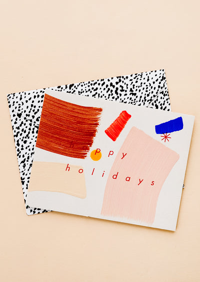 Paintstroke Happy Holidays Card Set hover