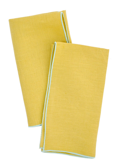 Two-Tone Palette Linen Napkin Set