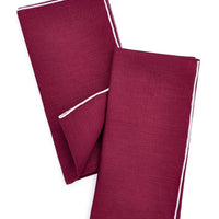 Fig / Amethyst: Two-Tone Palette Linen Napkin Set in Fig / Amethyst - LEIF