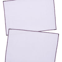 Taro / Grape: Palette Linen Placemat Set in Taro / Grape - LEIF