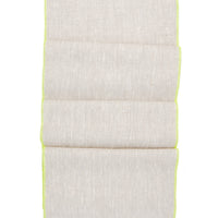 Oatmeal / Fluoro Yellow: Palette Linen Table Runner - LEIF
