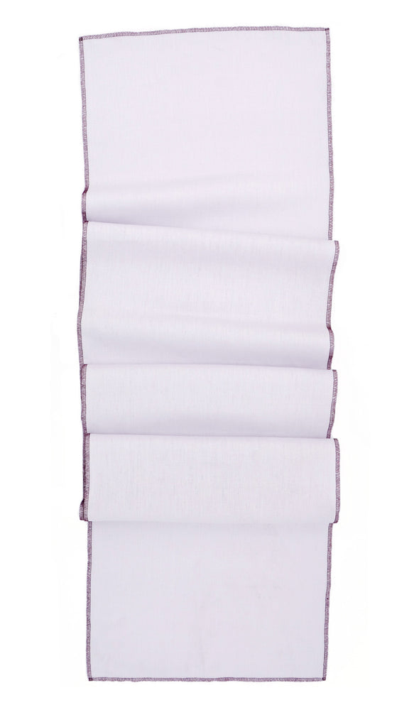 Taro / Grape: Palette Linen Table Runner in Taro / Grape - LEIF